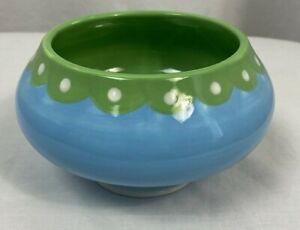 """Jonathan Adler Footed Ice Cream Parlor Bowl Turquoise 6"""""""