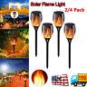 2/4 Pack 96 LED Solar Torch Dance Flickering Flame Light Garden Waterproof Lamp