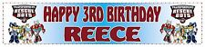 """Personalised Transformers Rescue Bots Banner (21cm x 90cm / 8"""" x 36"""")"""