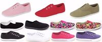 Women's New Flat Slip On Canvas Loafer Sneakers Round Toe Casual Shoes Sz 5-10
