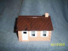 PLASTICVILLE U.S.A #1502 PEACH & BROWN CAPE COD HOUSE w/BOX