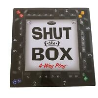 New Front Porch Classics Shut The Box 4-Way-Play Dice Board Game
