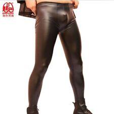 Sexy Mens Tight-fitting Leather Pants Fashion Leggings Imitation Latex Stylish