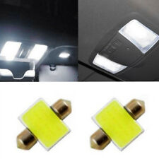 2pcs 31mm 12 SMD COB LED T10 6W White Light Car Interior Lights Dome Lamp Bulbs