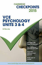 Cambridge Checkpoints VCE Psychology Units 3 and 4 2015 by Max Jory, New