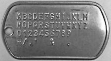 Customized Military Dog Tag - Personalized Metal Army ID Tag Custom Print