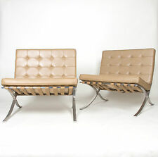 Vintage Original Knoll Mies Van Der Rohe Barcelona Chairs Stainless 2 Available