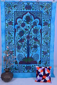 Tree Of Life Twin Cotton Tapestry Wall Hanging Throw Indian Bedspread Decor Dorm