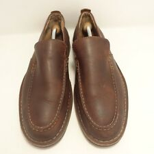 Clarks Mens  Brown Leather Slip On Loafers Shoes  Size 11 M