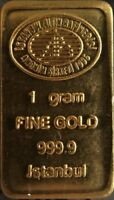 1 gram 24K 999.9 FINE GOLD BULLION BAR LBMA CERTIFIED (1G-IGR) gold bullion bar