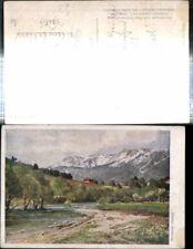 308652,Künstler AK Hugo Darnaut Reichenau an d. Rax Raxalpe Bergkulisse