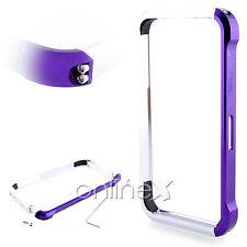 Bumper Aluminio Vapor 4 para iPhone 4  Colores Lila y Plata a561