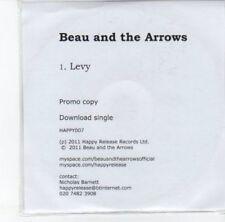 (DJ756) Beau and the Arrows, Levy - 2011 DJ CD