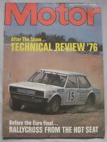 Motor magazine 6/11/1976 featuring Chrysler Avenger 1600 Super road test