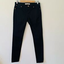 Country Road Black Skinny Jeans Cotton Gold Hardware  Mid Rise Size 10