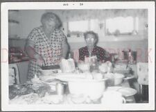 Vintage 1959 Photo Women Cooking Dinner in Kitchen Interior 688840