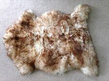 GENUINE SHEEPSKIN RUG - WHITE/CREAM WITH BROWN TIPS