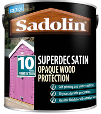 5L Sadolin Superdec Satin - All Colours - 10 Year Opaque Wood Protection