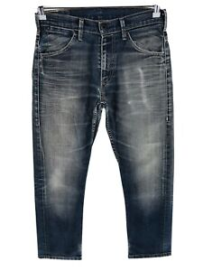 Levi's 504 Dark Grey Stretch Regular Straight Fit Jeans Size W30 L30