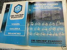A113-POSTER PIAGGIO GROEP VESPA,GILERA,BIANCHI BROMMERS,SCOOTER 1981 SI MOPED