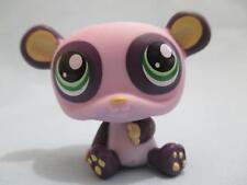 Littlest Pet Shop LPS Purple Lavender Green Eyes Panda Bear 1305 100% Authentic