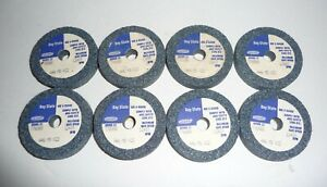 """BAY STATE GRINDING WHEEL, A46 M5 V22, 2"""" X 3/8"""" X 3/8"""", MAX RPM 12415, LOT OF 8"""