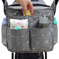 GREY BOB Infant Baby Jogger Stroller Cup Holder Organizer Wipes Diaper Phone NEW