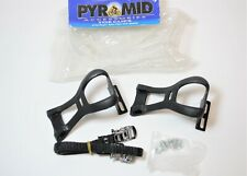 N.O.S. PYRAMID MEDIUM BICYCLE NYLON TOE CLIPS WITH HARDWARE