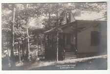 Real Photo Postcard Front Porch of Freeland Cottage in E. Holden, Maine