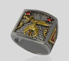 Shriners Sterling Silver 925 Masonic Ring Freemason Shriner Gold Pld by UNIQABLE