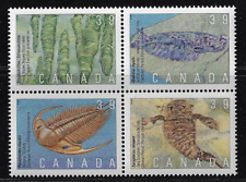 Canada Stamps — Block of 4 — 1990, Prehistoric life in Canada #1282a — MNH