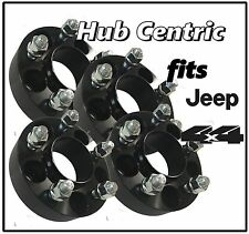 "4pc 1.25"" Thick Black Hub Centric 1987-2006 Jeep Wrangler Wheel Spacers Adapters"