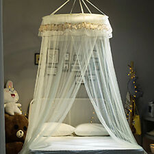 Beige Decorative Bed Mosquito Net Canopy For Single Double King Queen Size