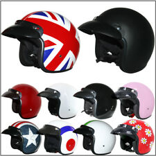 LEOPARD LEO-604 Open Face Motorbike Motorcycle Helmet Scooter MOD RETRO HELMET