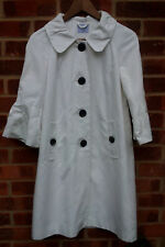 Oasis White Cotton Blend Jacket UK size 10 EU size 36