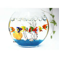 Swallowtail Fish Tank Floating Blown Glass Bubble Micro-landscape Ornament Decor