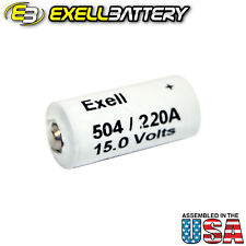 Exell Alkaline Battery A220/504A Replaces NEDA 220 Eveready 504