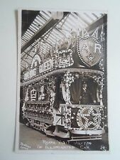 G41 Rare Old RPPC Rodgers Leeds Illuminated Tram Car For Royal Visit 1908