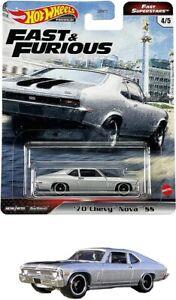 2021 Hot Wheels Fast & Furious Premium Fast Superstars '70 Chevy Nova SS GRK50