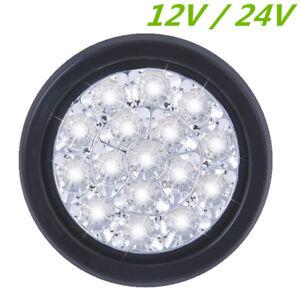 """Round 5"""" 16 LED Tail Lamp Reverse Indicator Light White for Truck Trailer RV Van"""