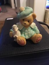 "1998 Cherished Teddies Cole 3"" Ltd Figurine we've got a lot to be thankful for"
