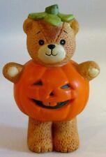 Enesco Lucy & Me Halloween Pumpkin Costume Bear Figurine 1982 - Euc