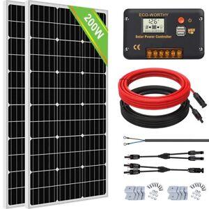 12V/24V Solar Panel kit Off Grid Battery Charge For Caravan RV Marine Trailer Ca