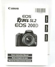 Canon EOS Rebel SL2 EOS 200D Digital Camera Instruction Manual  VGC (464)