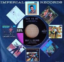 BILLY J. KRAMER & DAKOTAS - LITTLE CHILDREN b/w BAD TO ME - IMPERIAL 45