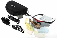 RockBros Polarized Cycling Glasses Outdoor Sunglasses Goggles Black Red