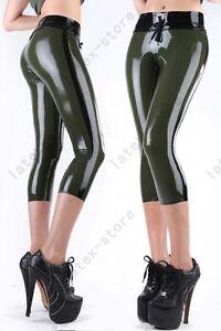 016 Latex Rubber Gummi pirate Shorts pants drawstring bermuda customized 0.4mm