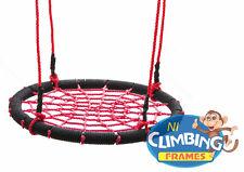 Kids Crows Nest swing Seat Basket RED & BLACK BARGAIN! 60cm Climbing Frame Tree