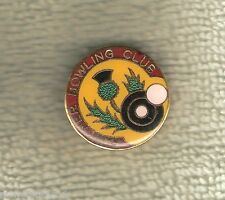 FAWKNER  BOWLING CLUB LAPEL BADGE, SCOTTISH