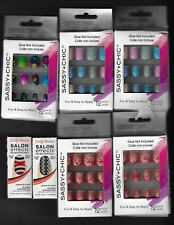 Sassy & Chic Fashion Nails and Sally Hansen Salon Effects nail polish strips-New